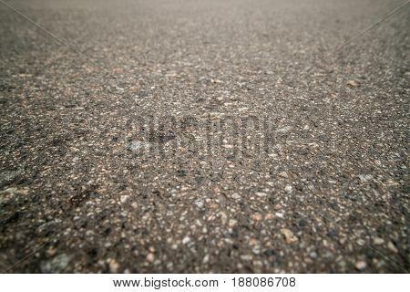Background, Gray Asphalt Texture On The Whole Frame. Horizontal Frame