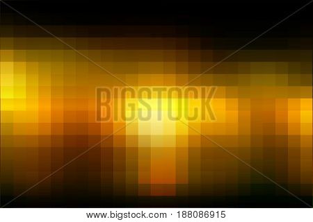 Black orange yellow abstract vector square tiles mosaic background