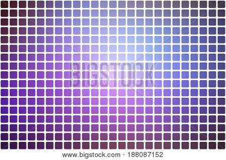 Purple lilac pink vector abstract mosaic background with rounded corners square tiles over white