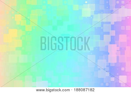 Light rainbow vector abstract glowing background with random sizes rounded corners tiles