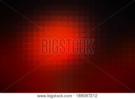 Red brown black vector abstract rounded corners square tiles mosaic over blurred background