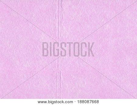 Close Up Detail Pink Piece Of Textured Felt