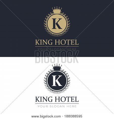 King Hotel Logo. Logo template for your business