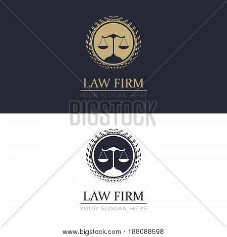 Law Firm Logo. Logo template for your business