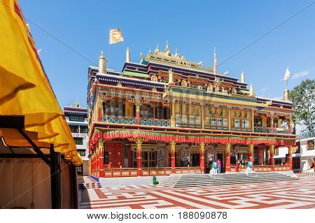 Beautiful and very colourful Monastery of Rabangla - called Ralong Monasterry at Sikkim India