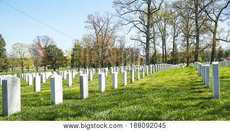 Famous landmark in Washington - The Arlington Cemetery - WASHINGTON - DISTRICT OF COLUMBIA