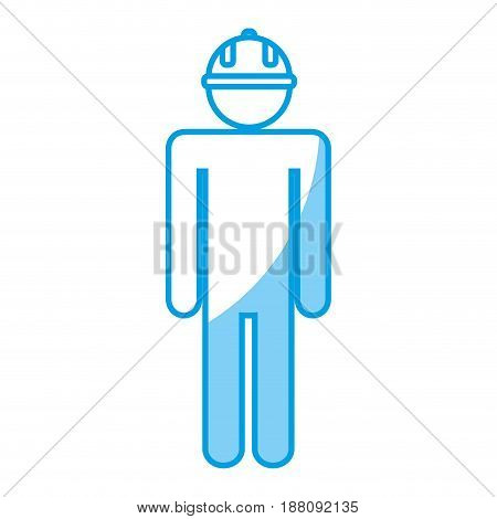 pictogram man with safety helmet icon over white background. vector illustration