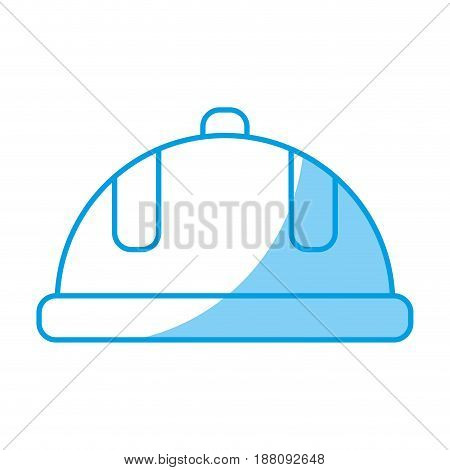 safety helmet icon over white background. vector illustration