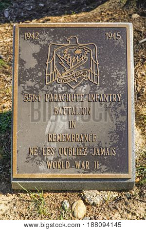551st Parachute Infantry Battalion in Remembrance - WASHINGTON - DISTRICT OF COLUMBIA