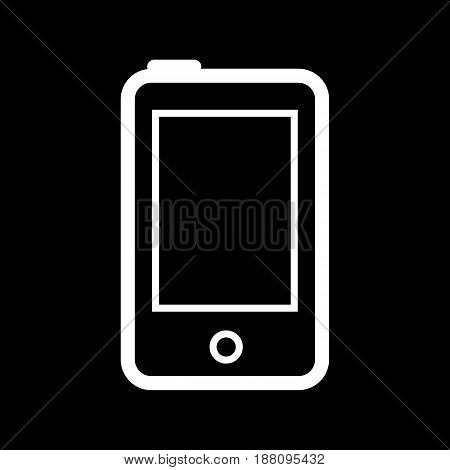 Phone line icon. Vector illustration isolated on black background. eps 10