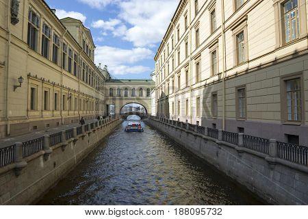 Saint Petersburg, Russia,may 04, 2017:  Channel Winter groove in St. Petersburg