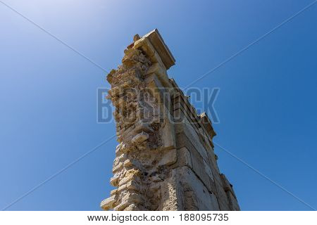 Fragment of ruins of the church of Saint Peter of the Dominicans. The Orthodox Church. Built in the 13th century.