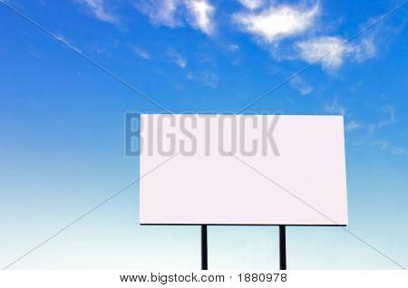 Billboard On A Beautiful Blue Sky - Large Version