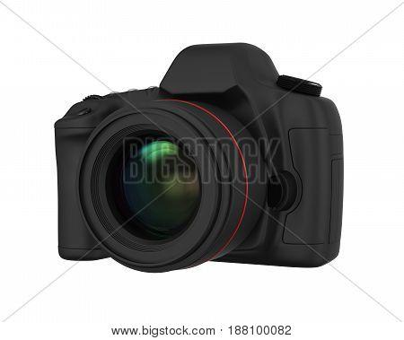 Digital SLR Camera isolated on white background. 3D render