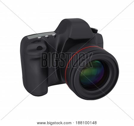 Digital SLR Camera isolated on white background. 3D render