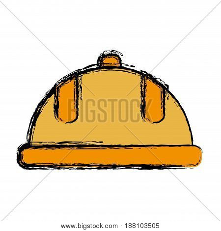 safety helmet icon over white background. colorful design. vector illustration