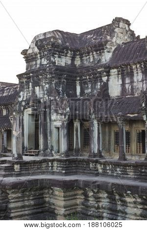 Entrance to Angkor Wat Temple in Cambodia.