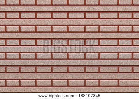Brown and red tiles with symmetrical shapes. Front view