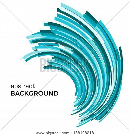 Abstract background with colorful curved lines in a chaotic order. Colored lines with place for your text on a white background.