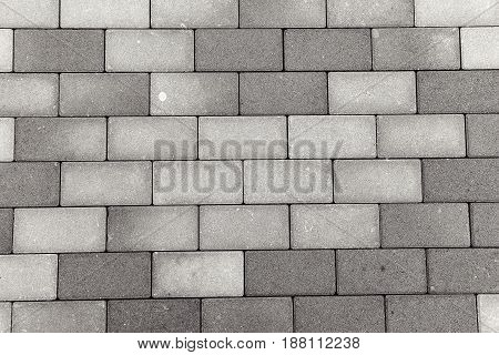 Modern Brick Stone Pedestrian Pavement