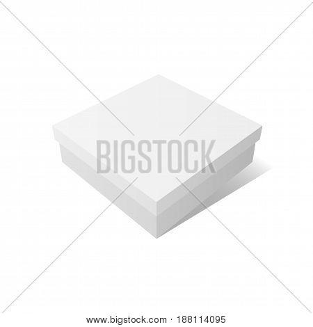 White empty Container Mockup. Vector Design Element