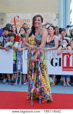 Giffoni Valle Piana Sa Italy - July 19 2011 : Antonella Ferrari at Giffoni Film Festival 2011 - on July 19 2011 in Giffoni Valle Piana Italy