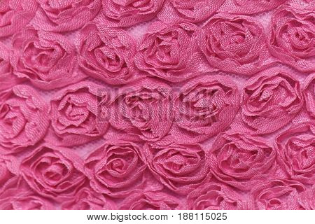 Pink Rose Background Fabric