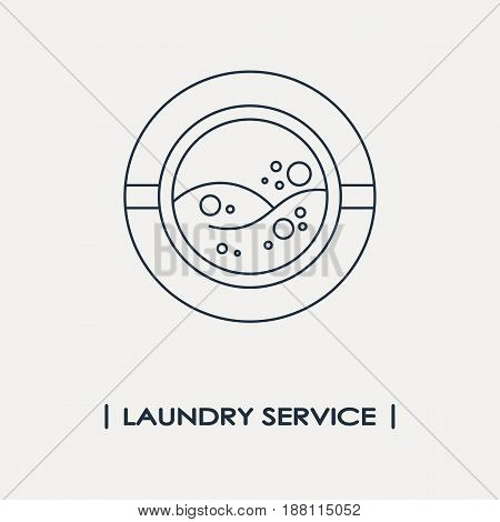 Laundry service outline logo isolated. Vector illustration
