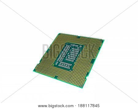Central Computer Processors Cpu High Resolution 3D Render On White No Shadow