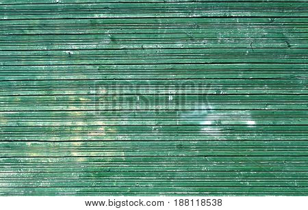 Cyan Weathered Green Color Wood Wall.