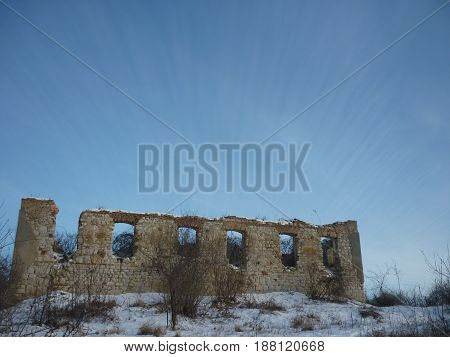 Old abandoned building in the Transylvanian basin