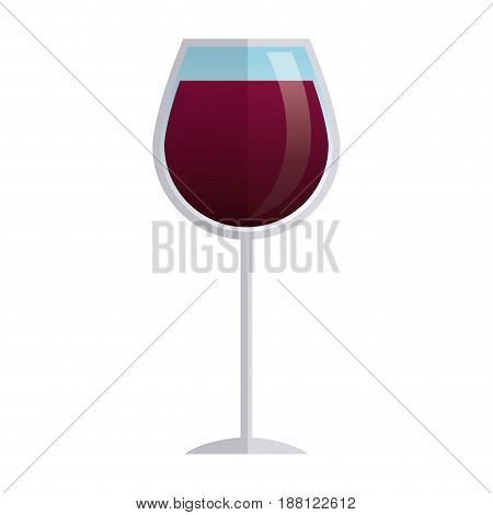 glass cup wine liquor beverage elegant vector illustration