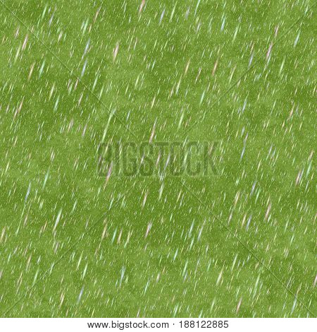 Abstract rain on green background, Rainy day in rainforest, Texture background, Seamless illustration