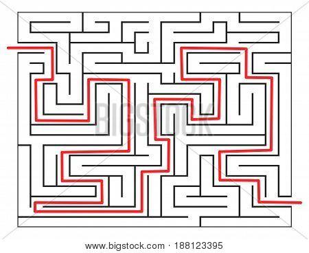 Solved Maze Vector Symbol Icon Design.