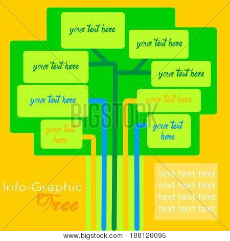 infographic template graphic elements illustration in shape of tree