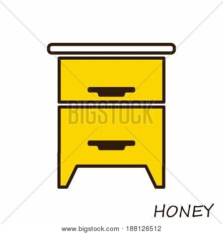 apiculture and beekeeping icon. Hive for bees. Illustration of the apiary. Isolated