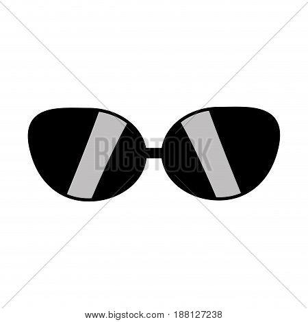 cute sunglasses fashion style design, vector illustration