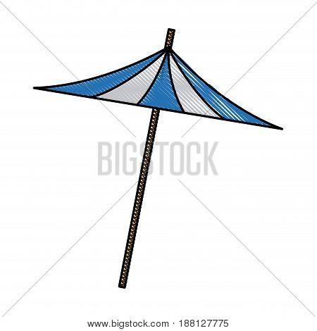 umbrella decoration cocktail drink icon vector illustration