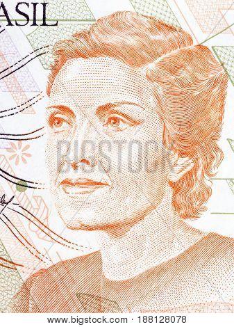 Cecília Benevides de Carvalho Meireles portrait from Brazilian money