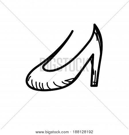 line beautiful high heel shoes design, vector illustration