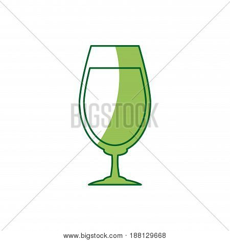 glass cup for drink bar. glassware, alcohol, liquid icon vector illustration
