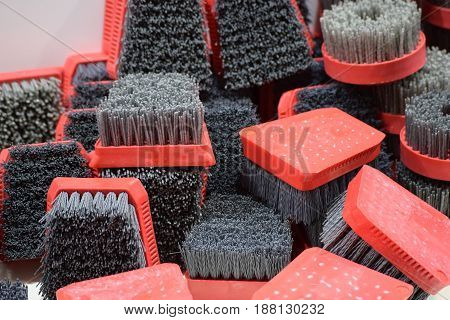 steel wire brush for scraping rust and paint