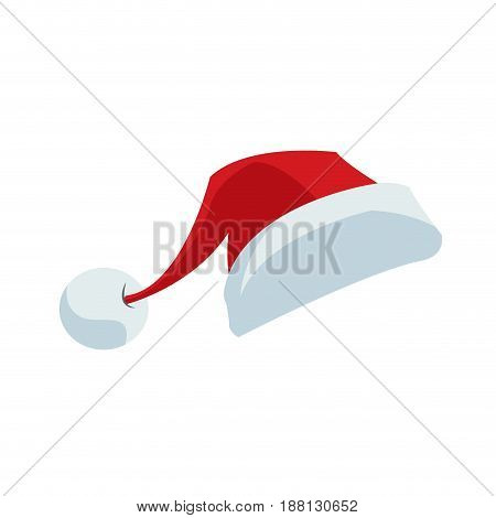 santa claus cartoon hat style symbol decoration template. christmas clothes vector illustration