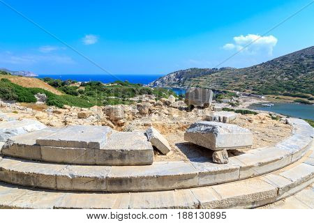 Aphrodite temple in ancient greek city knidos in Datca Turkey
