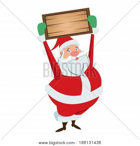 cartoon santa claus for your christmas and new year greeting vector illustration