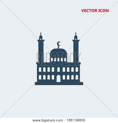 mosque vector icon isolated on white background