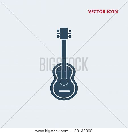 guitar vector icon isolated on white background