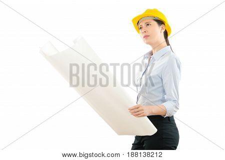 Woman Foreman Opened Design Image