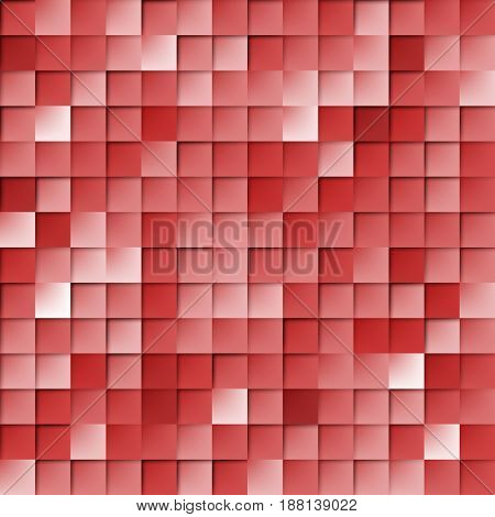 Abstract Random Tile of Red Colors of Various Tones and Saturation