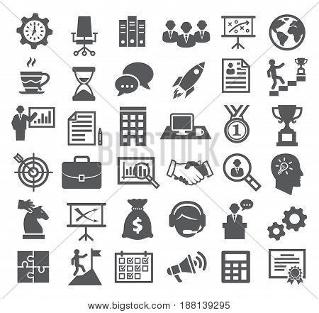 Business icons. Management, marketing, office, career and strategy